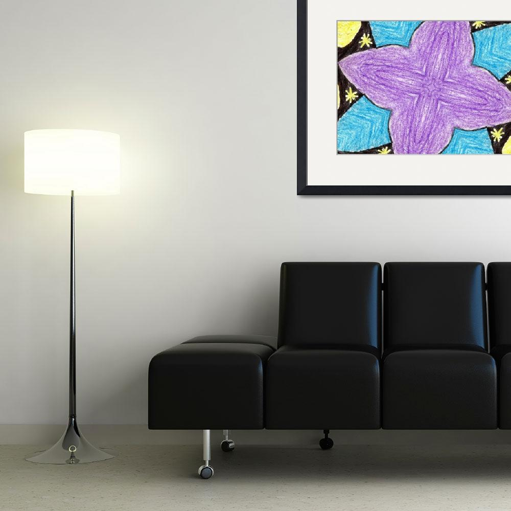 """""""abstract flower&quot  by wizardess"""