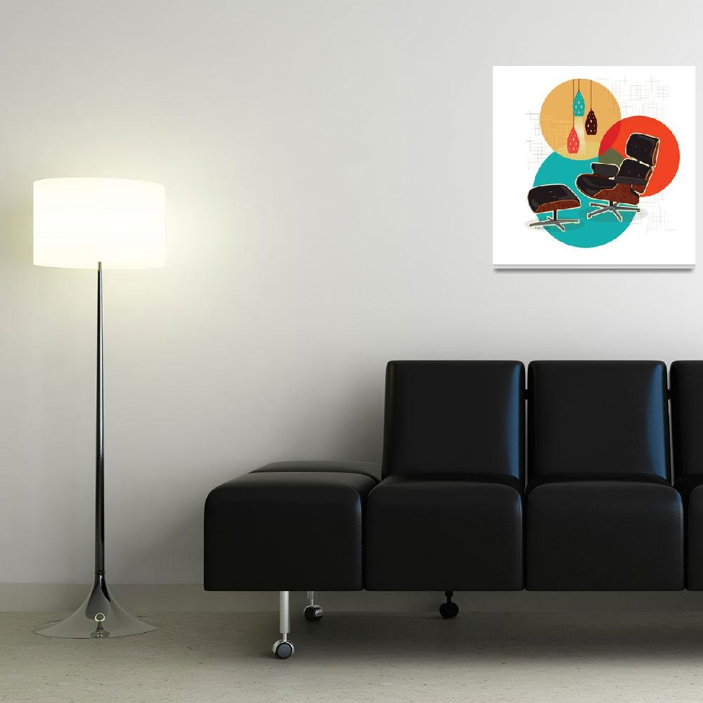 """""""Mid Century Modern Eames Lounge Chair Print&quot  (2016) by DianeDempseyDesign"""