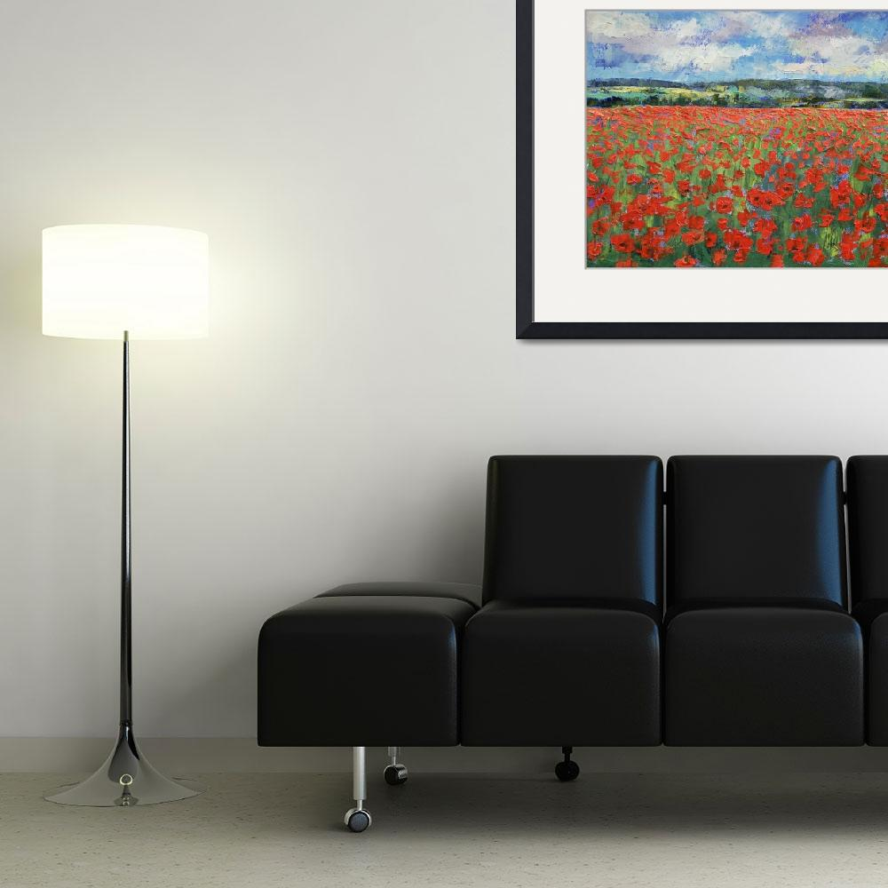 """""""Poppy Painting&quot  by creese"""