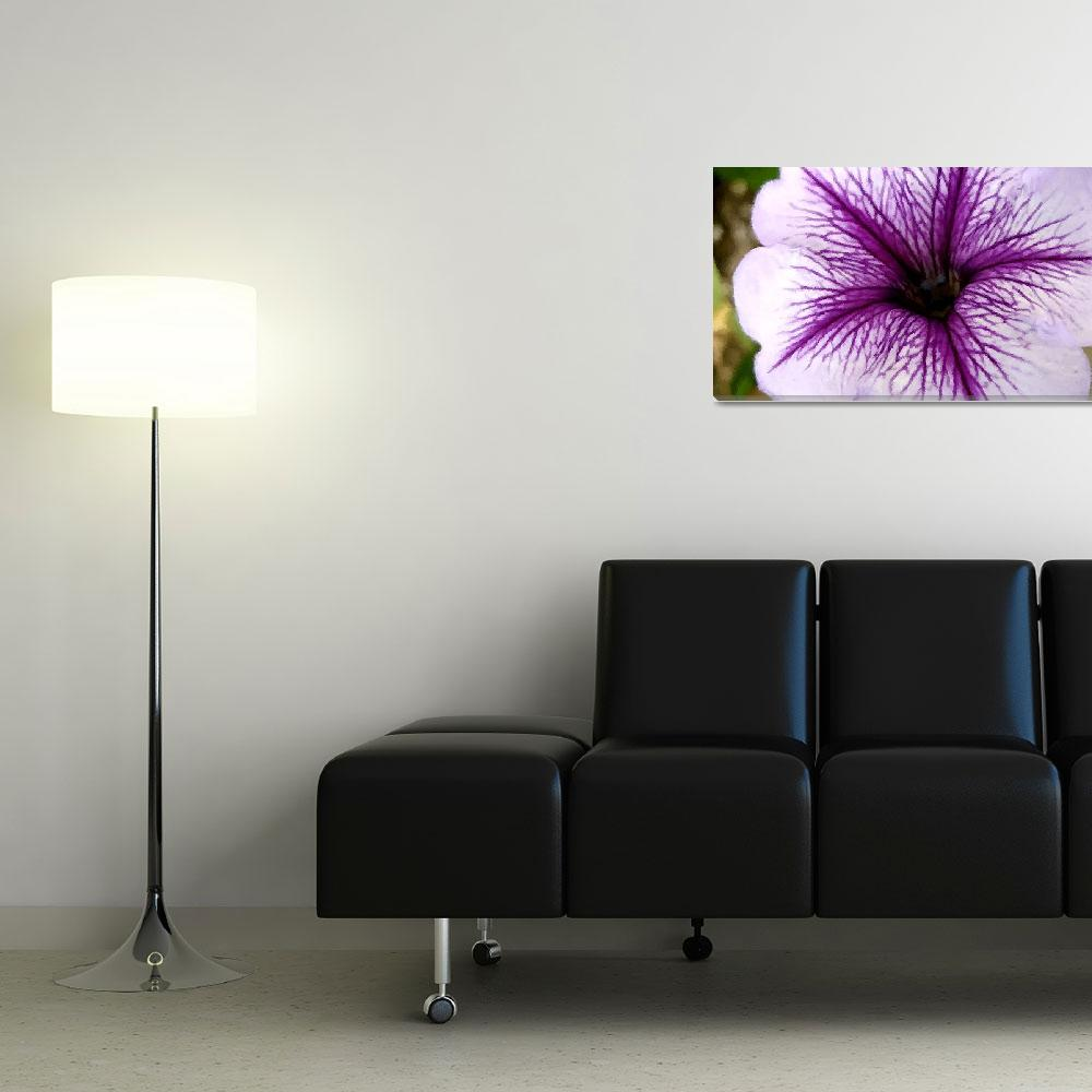 """""""purple flower brushstrokes&quot  by lizmix"""