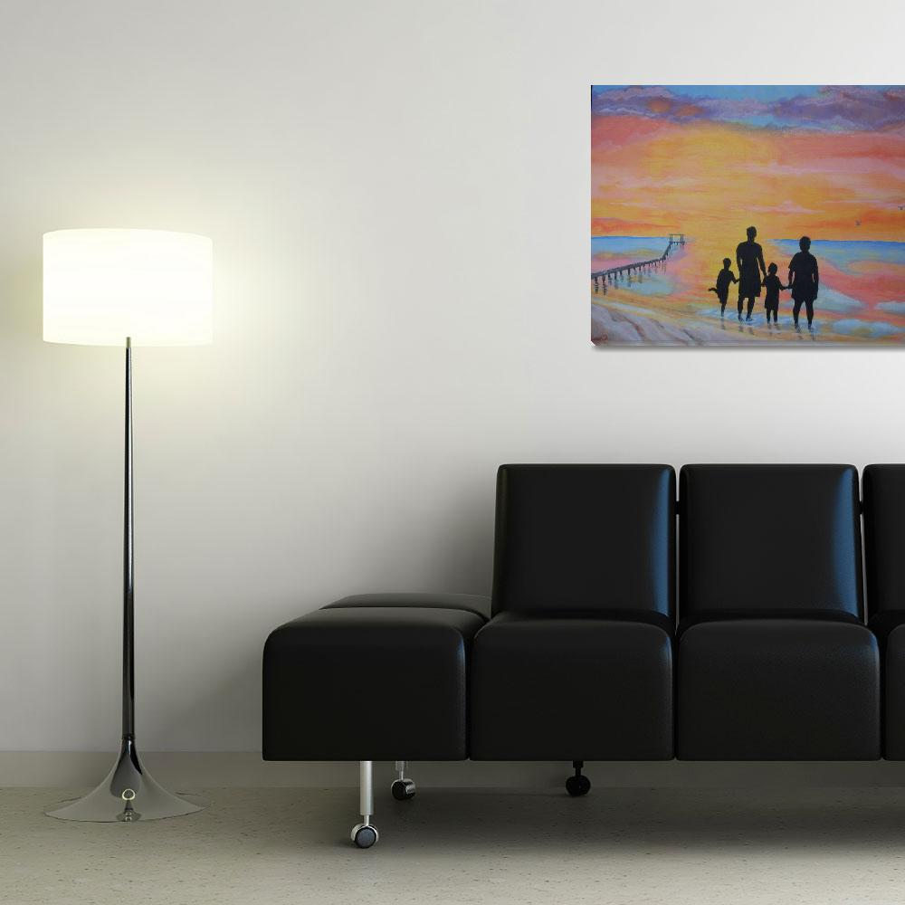 """""""Family At Sunset 2&quot  (2009) by wot53"""