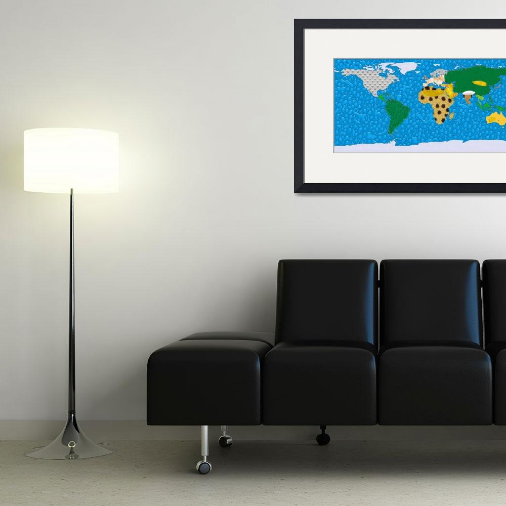 """""""World Texture Map&quot  (2012) by gsquared"""