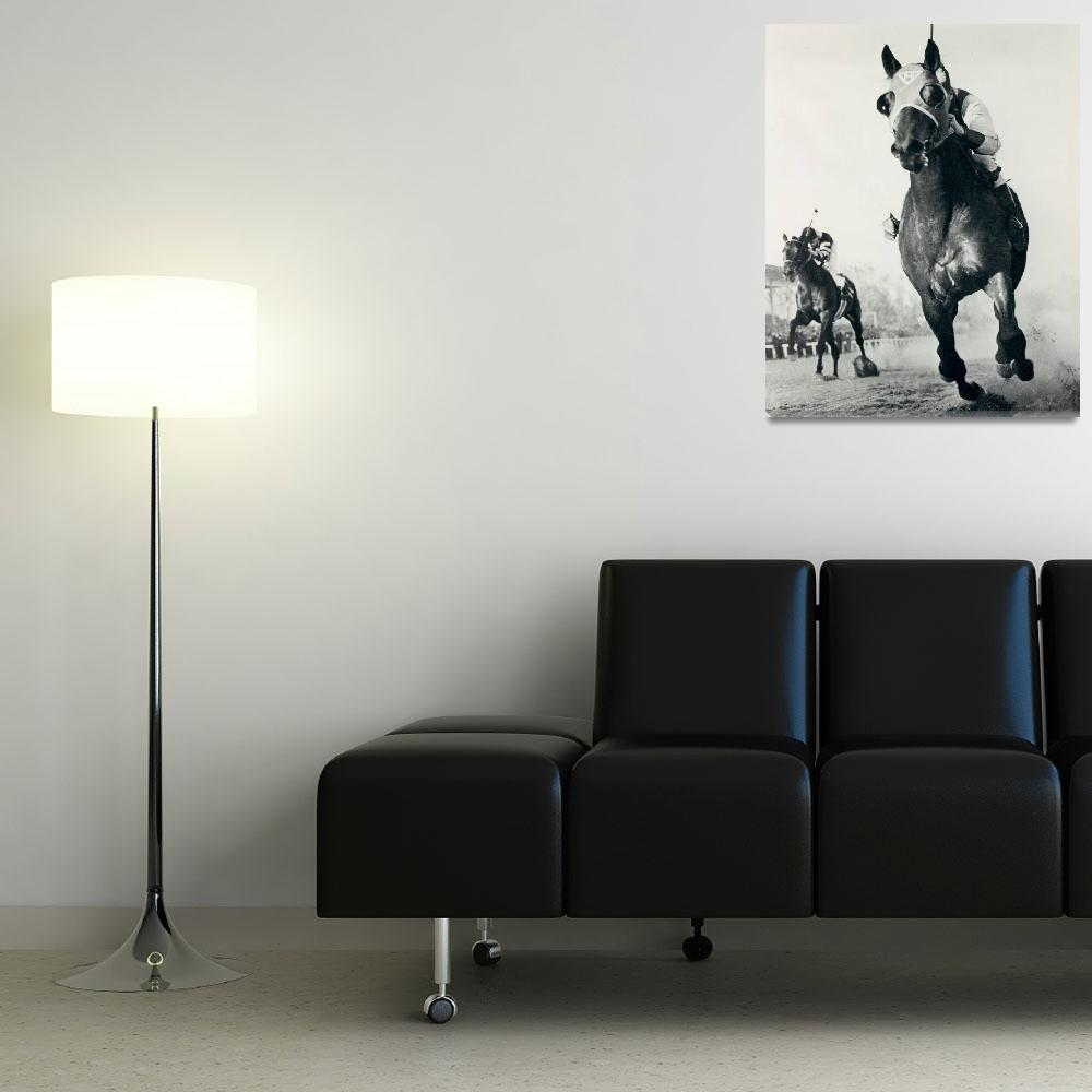 """""""Seabiscuit Horse Racing #3&quot  by RetroImagesArchive"""