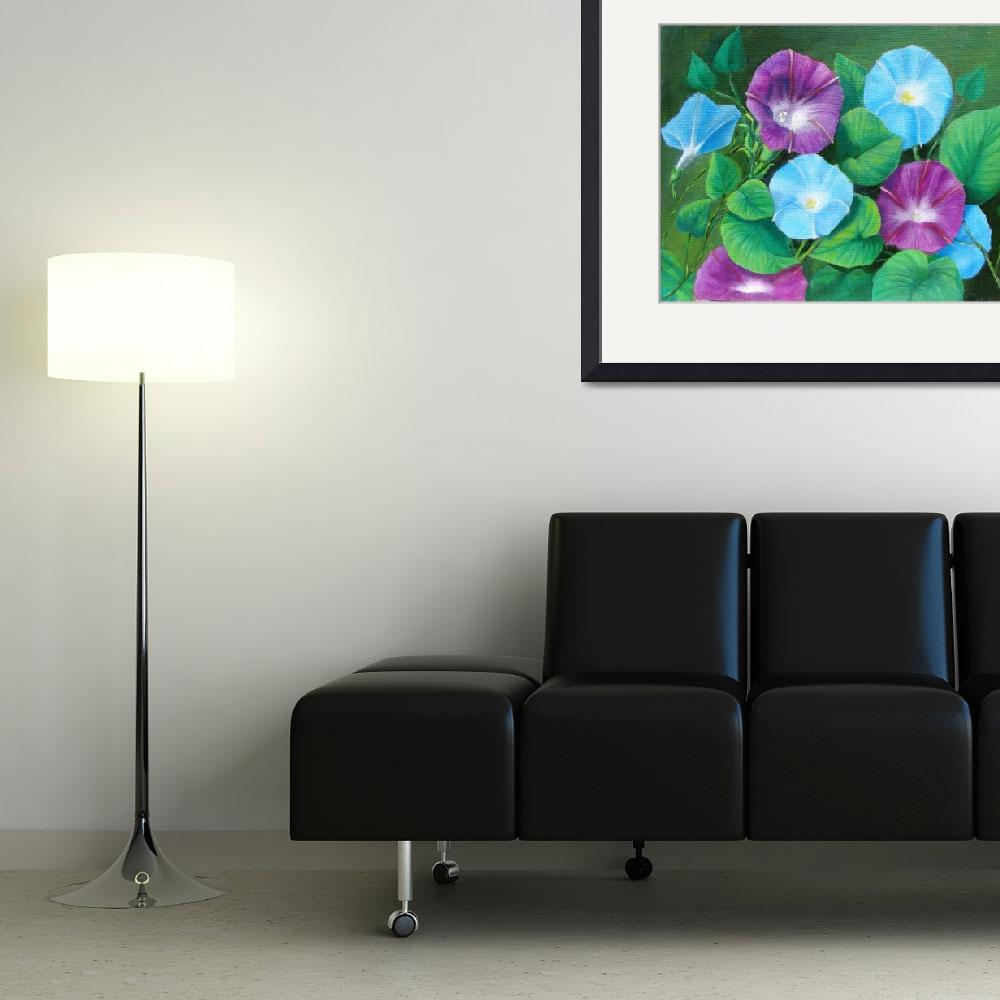 """""""Morning Glory Oil - EBSQ&quot  by Art-by-HeatherM"""