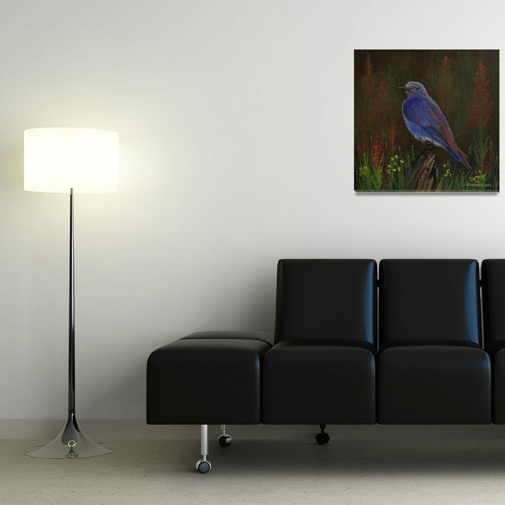 """Mountain Bluebird&quot  (2014) by rsummers"