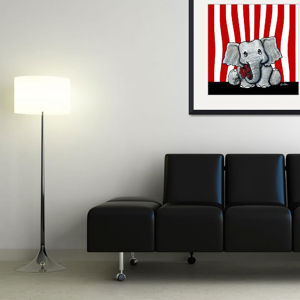 """""""Circus Elephant&quot  (2007) by KiniArt"""