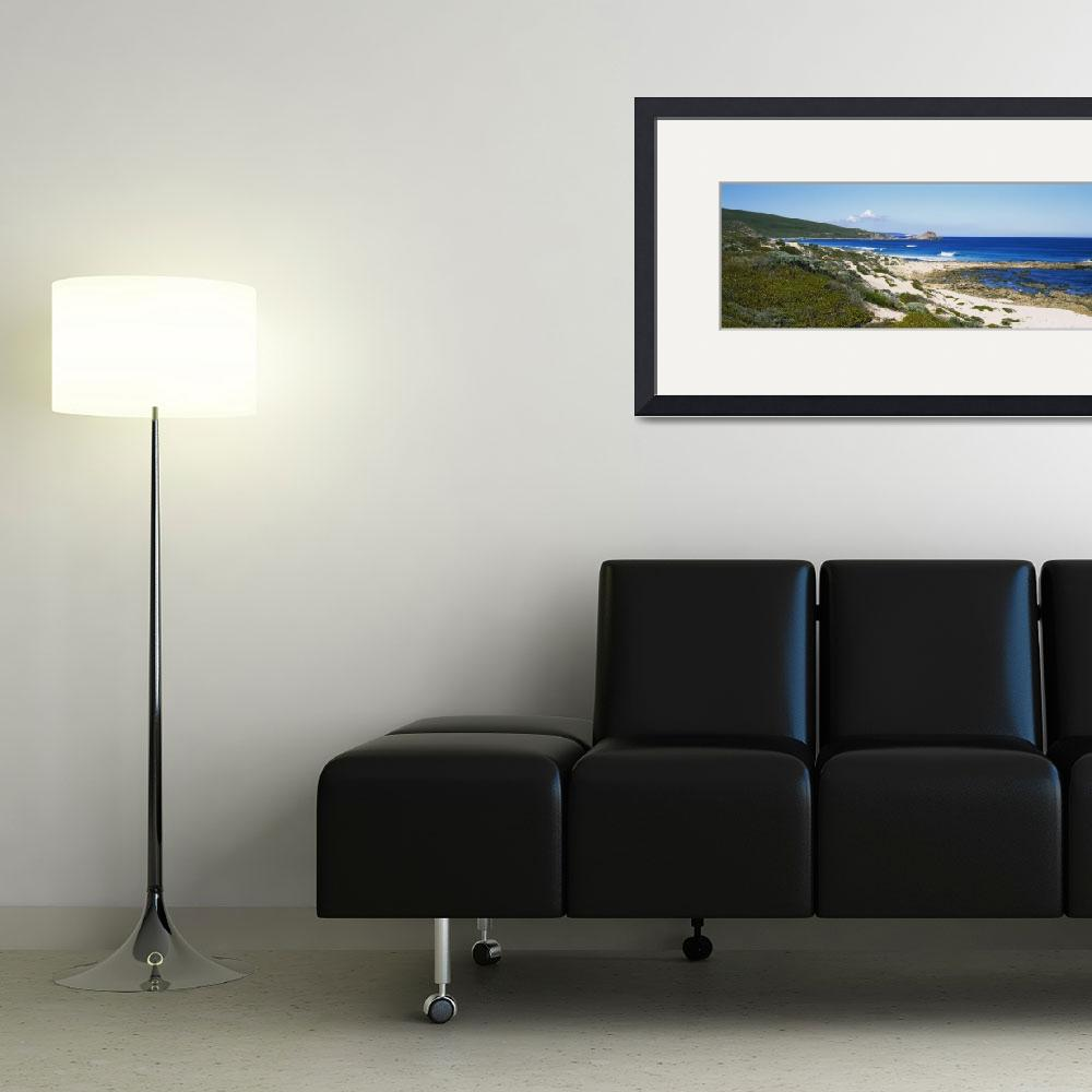 """""""Blue sky over a coastline&quot  by Panoramic_Images"""