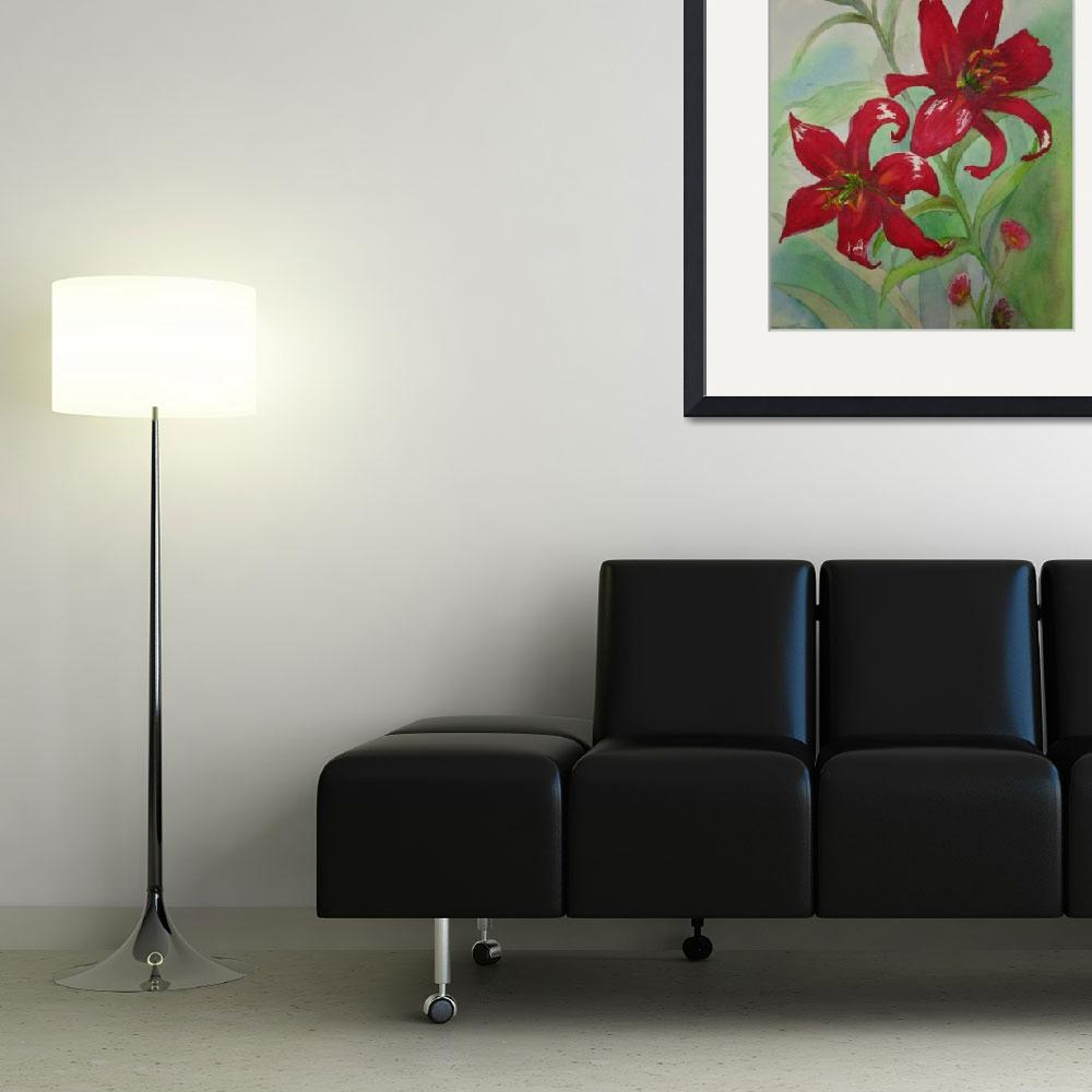 """""""Brilliant Red Flowers""""  (2006) by kerralindsey"""