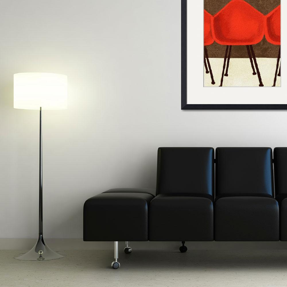 """""""STYLE IS TIMELESS - MID CENTURY EAMES CHAIRS&quot  (2009) by lisaweedn"""