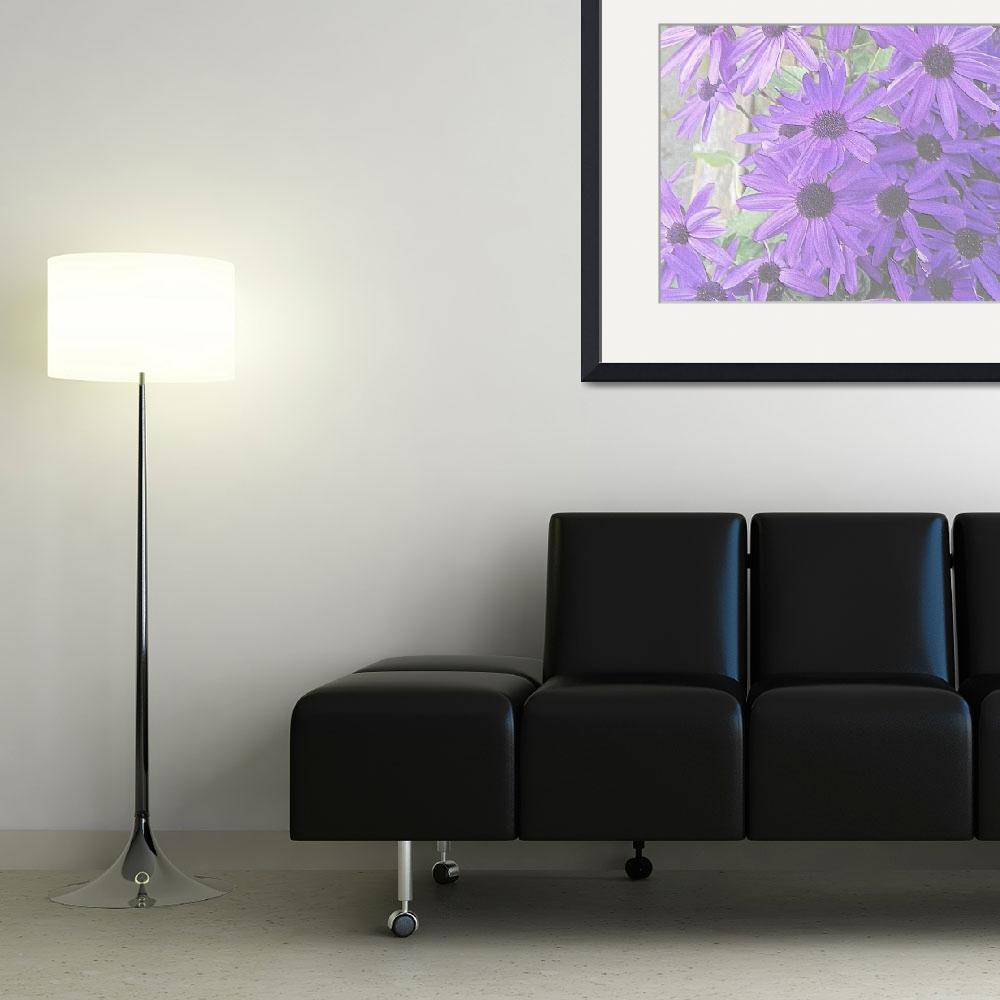 """""""Purple Daisies&quot  (2012) by KSDesigns"""