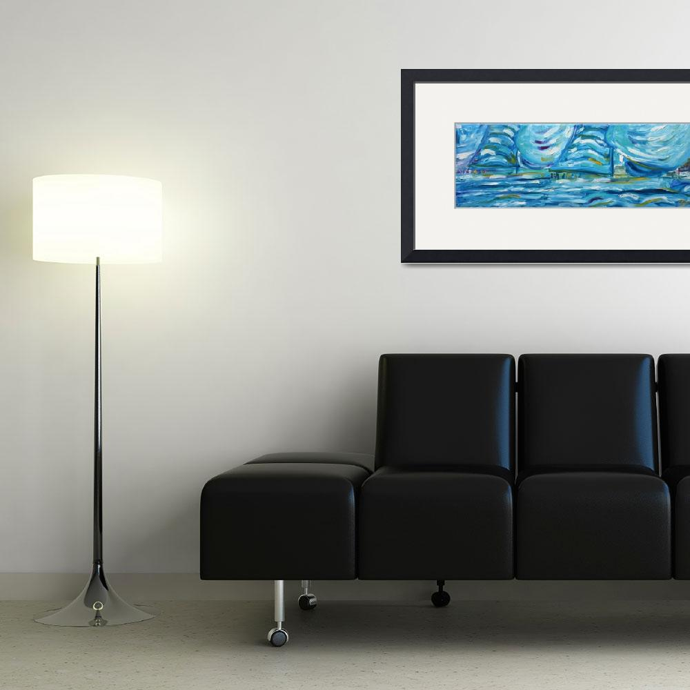 """""""Yacht and Sailing Painting""""  by PeteCaswell"""