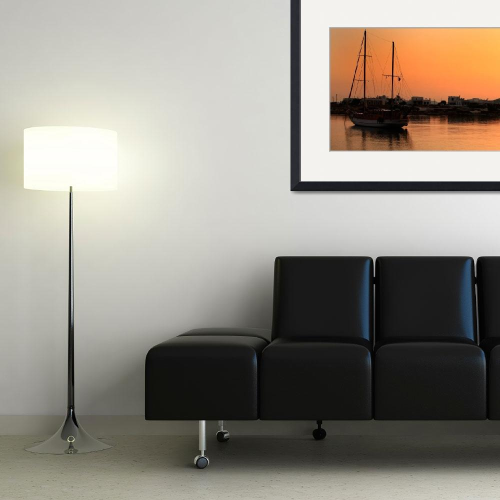 """""""Boat at Sunrise&quot  (2009) by JessicaShellPhotography"""
