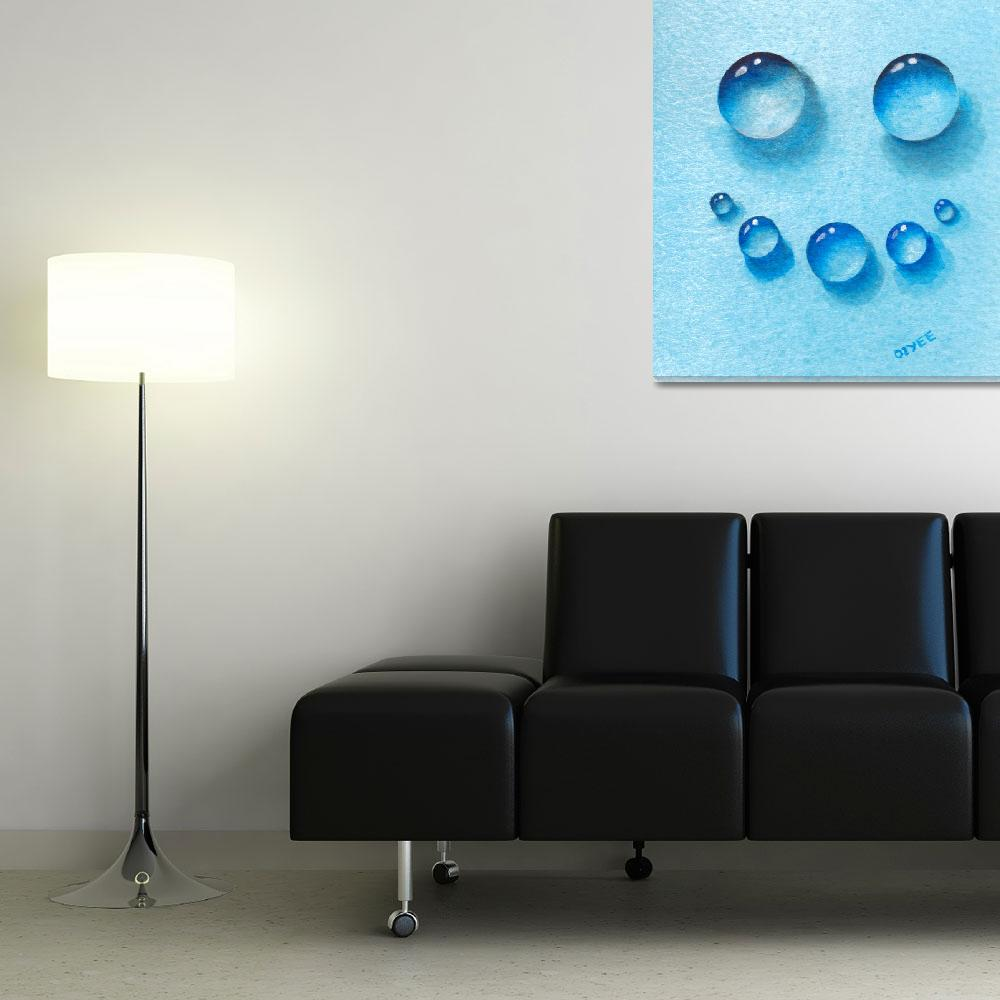 """Smiley Water Drops&quot  (2015) by oystudio"