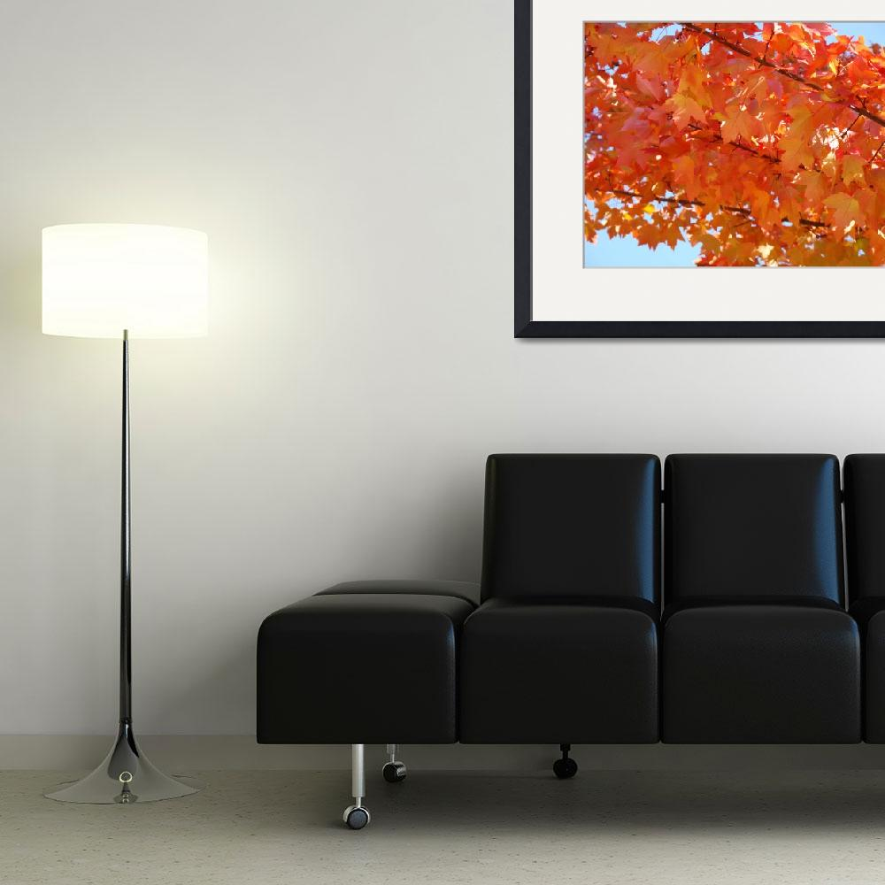 """""""GOLDEN LEAVES Yellow Orange Autumn Leaves Art&quot  (2009) by BasleeTroutman"""