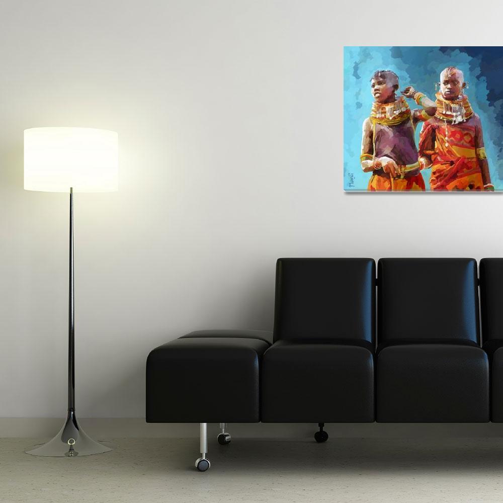 """""""Turkana Girls""""  (2014) by Antodezigns"""