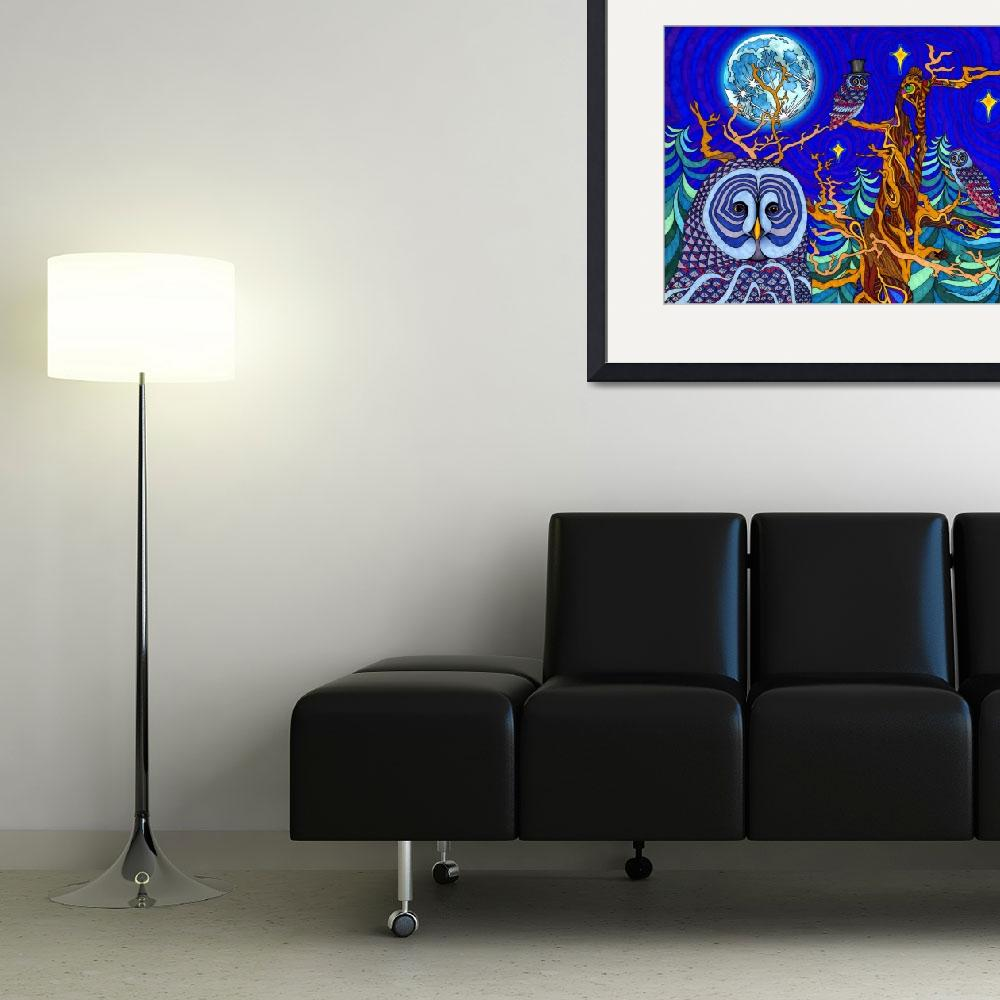 """""""The Night Owls&quot  by phillewisart"""