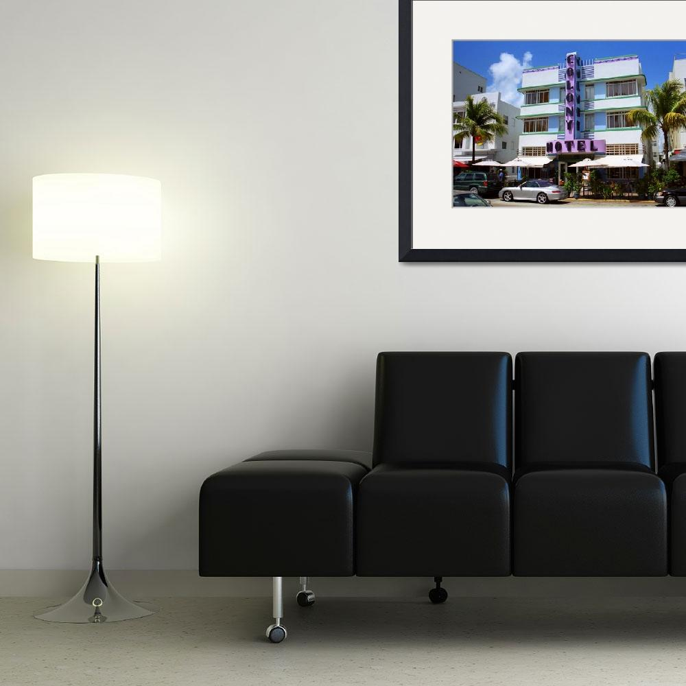 """Miami Beach - Art Deco&quot  (2003) by Ffooter"