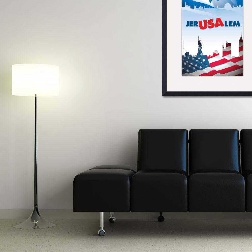 """""""Jer-USA-lem&quot  (2009) by PostersOfIsrael"""