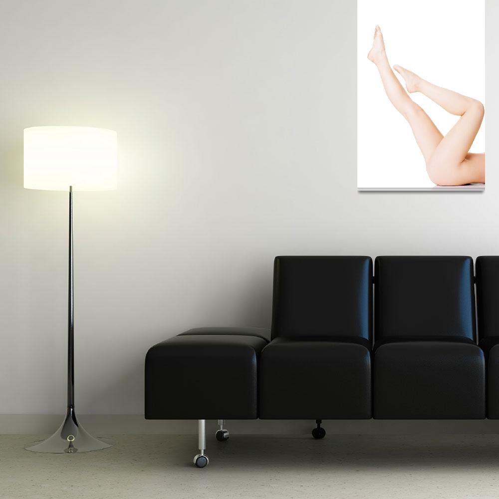 """""""Womans, female sexy legs up. Closeup.  Isolated on&quot  by Piotr_Marcinski"""