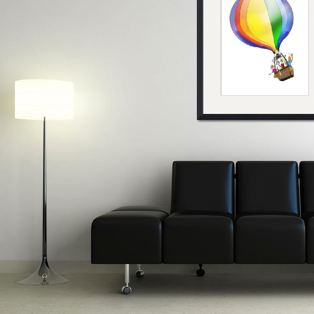 """Zoo Bugs Balloon&quot  (2010) by LAArtworks"