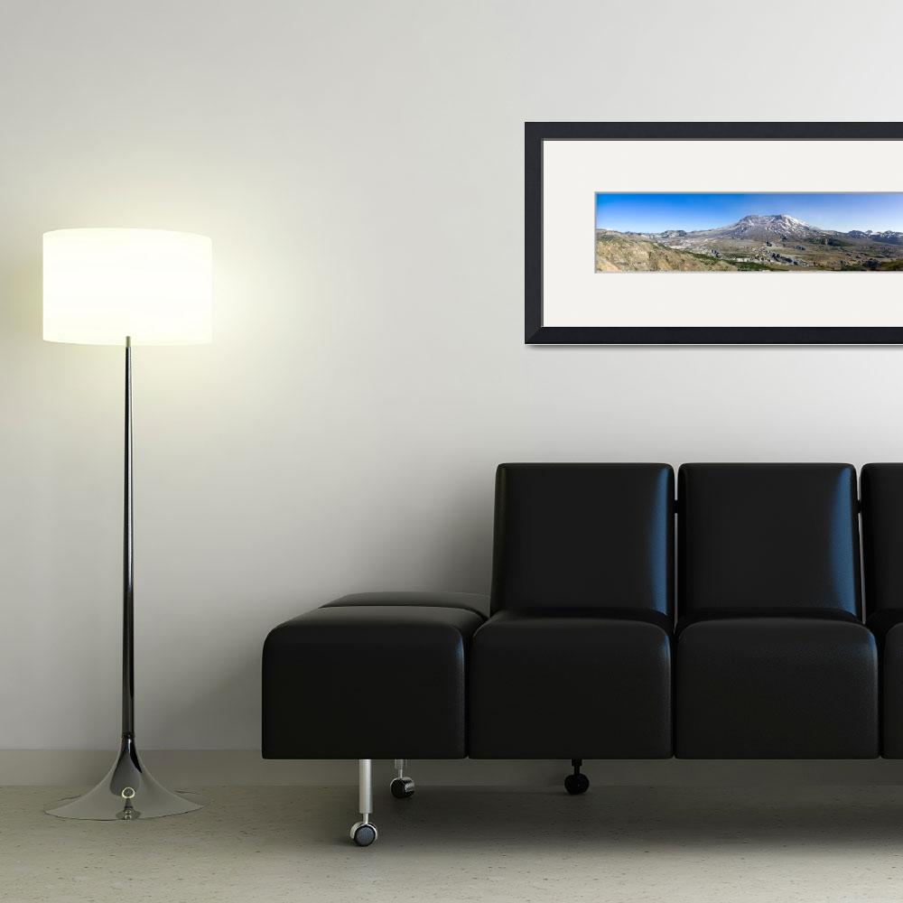 """""""Mount St. Helens - Panorama&quot  (2008) by nsaveski"""