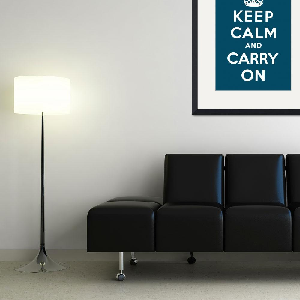 """""""Blue Keep Calm And Carry On 3&quot  by oldies"""