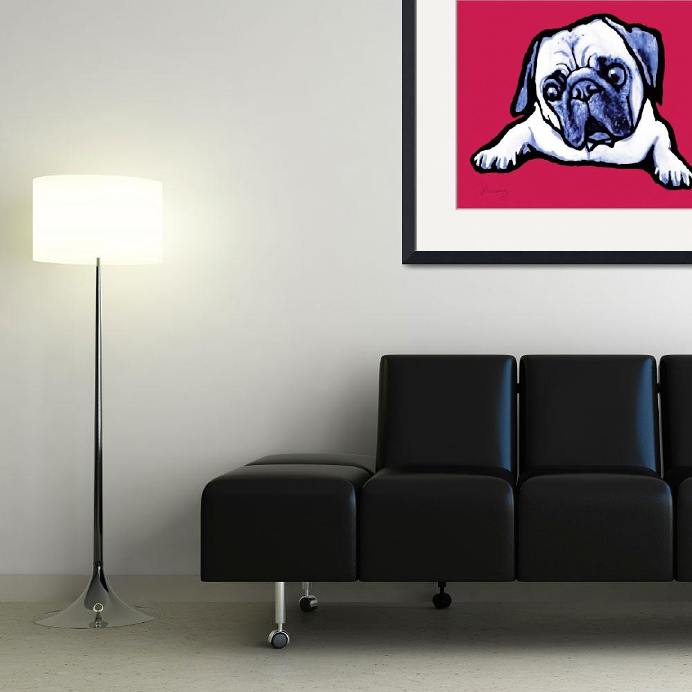 """pop art dog  -  stylised drawing poster&quot  (2014) by visualharbour"
