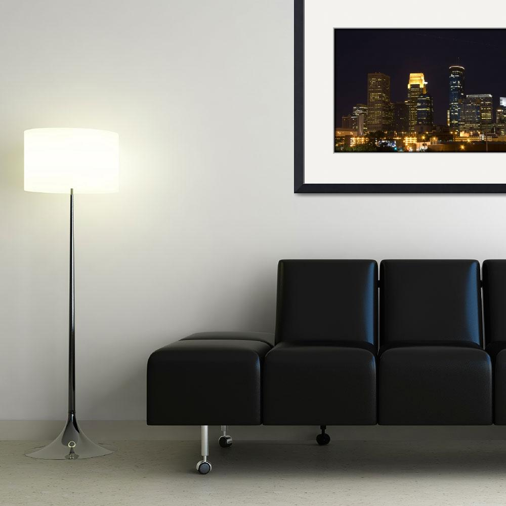 """""""Minneapolis at night with a shooting star&quot  (2009) by Jamie_Walpole"""