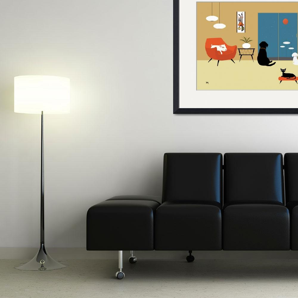 """""""Mid Century Modern Animals&quot  (2015) by DMibus"""