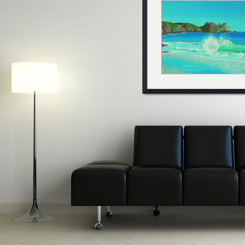 """""""Porthcurno wave.&quot  (2010) by si"""