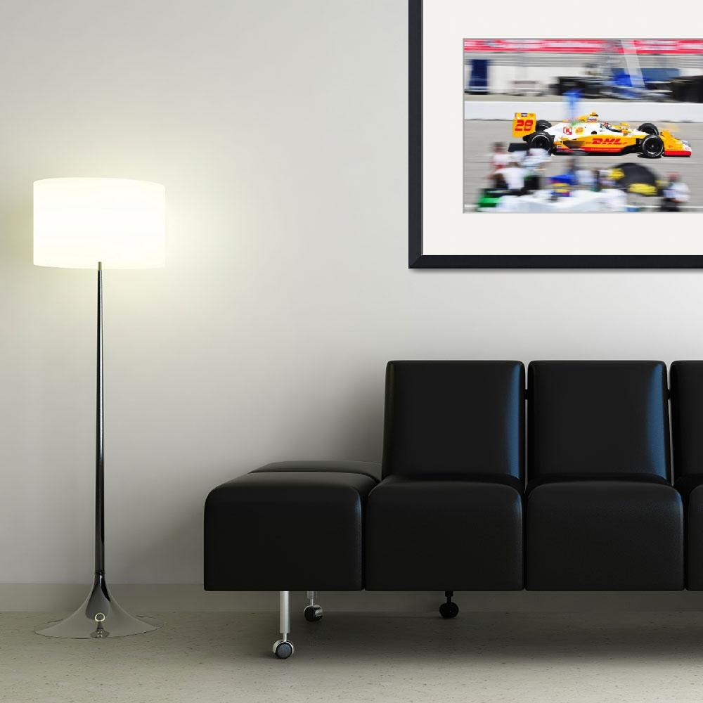 """""""Ryan Hunter-Reay exiting pit road&quot  (2011) by jchau"""