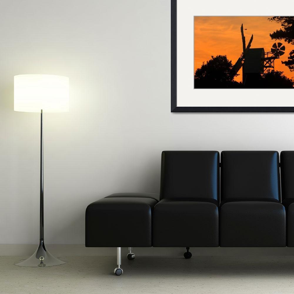 """""""Sunset Windmill""""  (2009) by 4orty7even"""