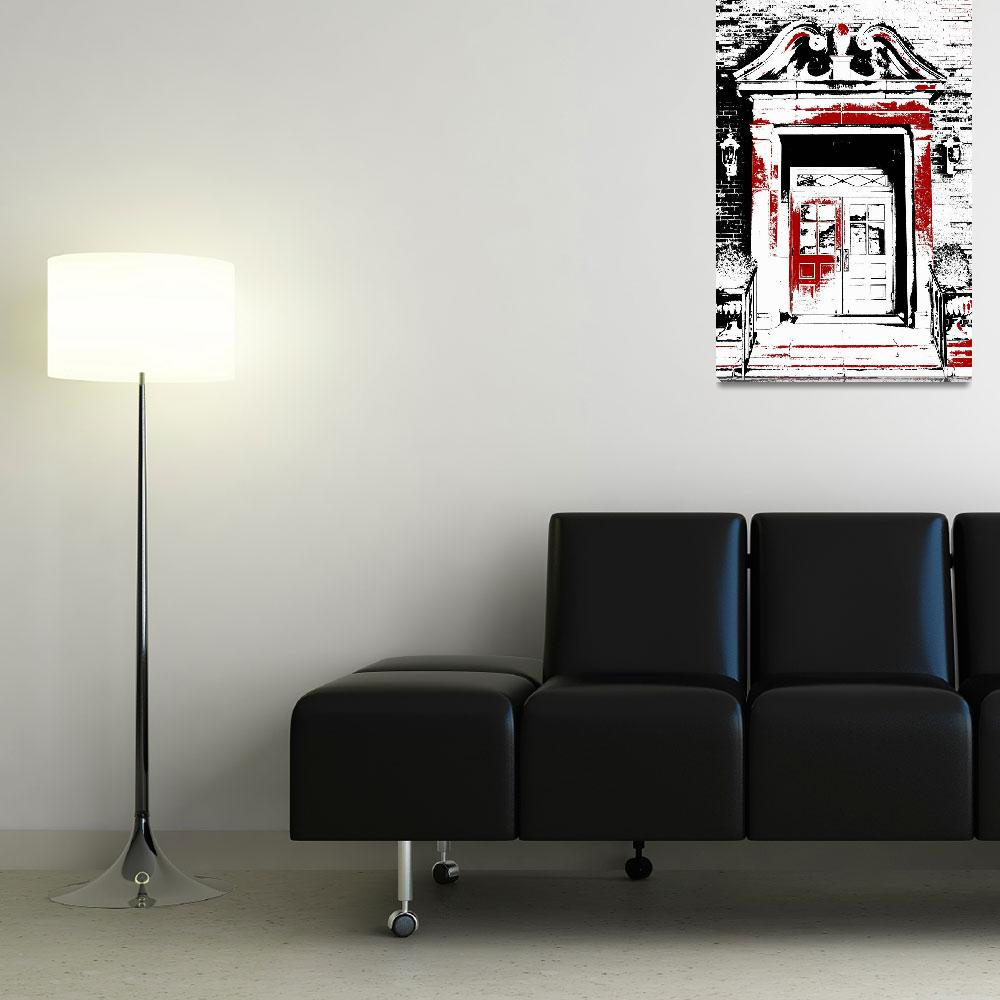 """""""Grand Entrance Black White And Red Series""""  (2013) by bettynorthcutt"""