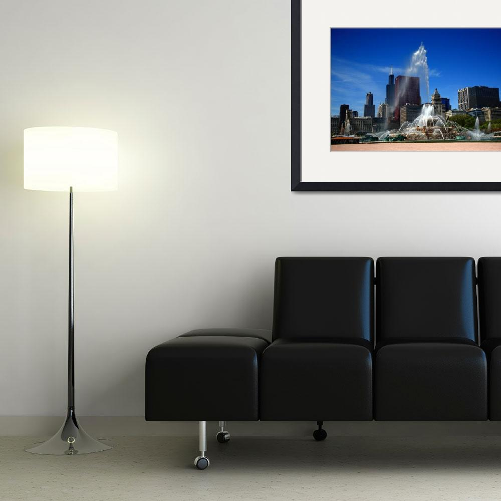 """""""Chicago Skyline and Buckingham Fountain 2010&quot  (2010) by Ffooter"""