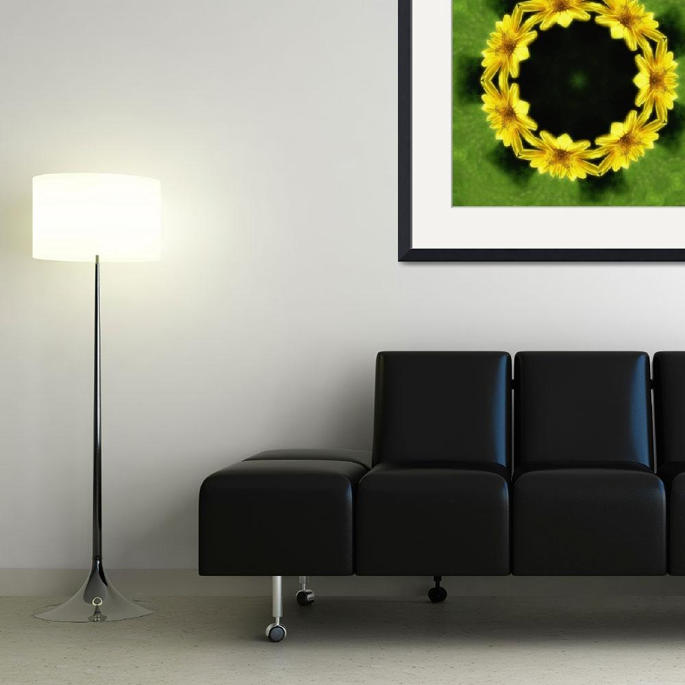 """Large Yellow Wildflower Kaleidoscope Art 3&quot  (2009) by ChristopherInMexico"