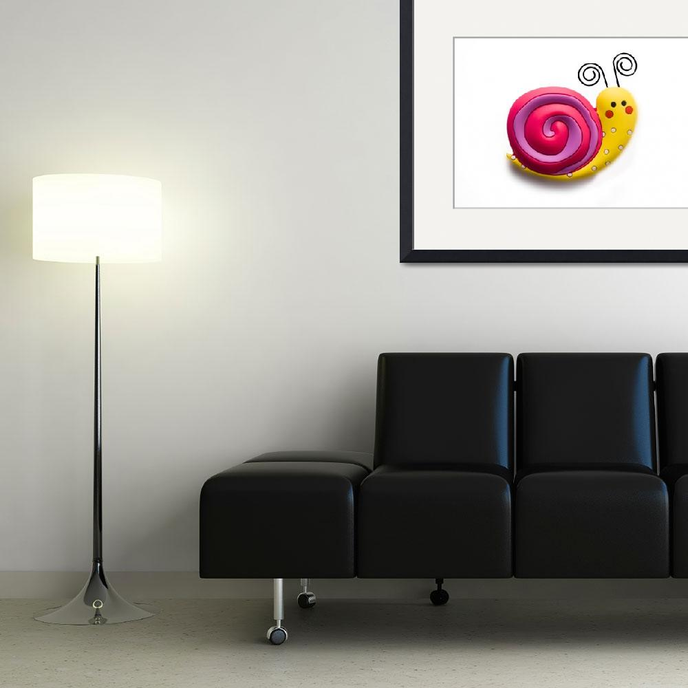 """Bright and funny toy snail&quot  (2011) by Kybdica"