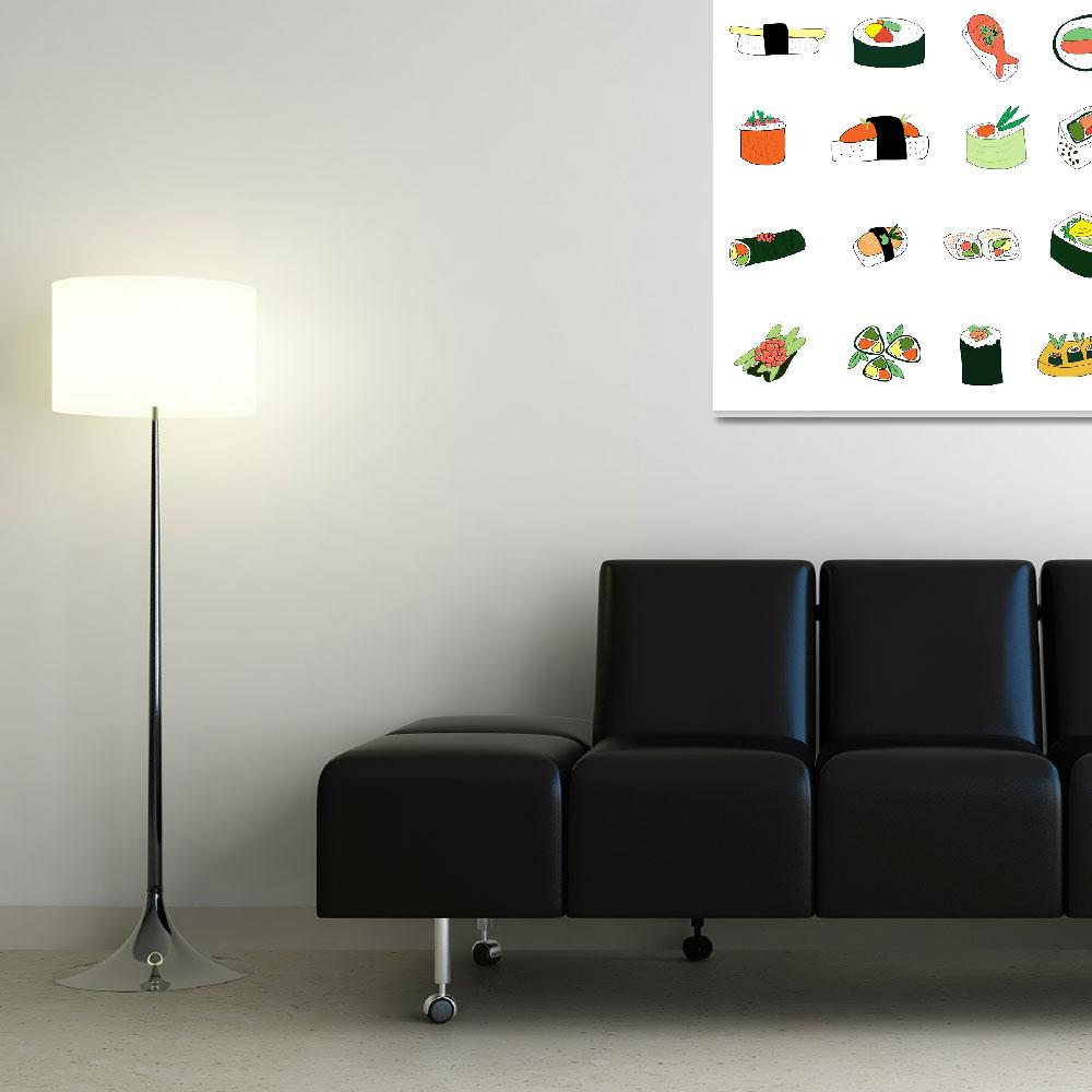 """""""Sixteen Servings of Sushi""""  (2012) by TuesdayMoon"""