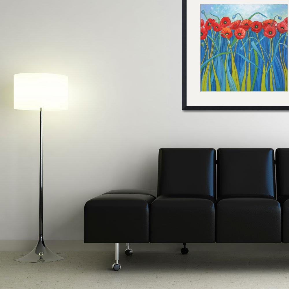 """""""Stormy Day Poppies&quot  (2010) by DreamGallery"""