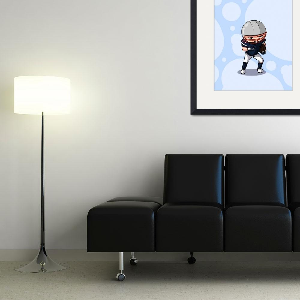 """""""Football player (background)&quot  (2011) by artbymike"""