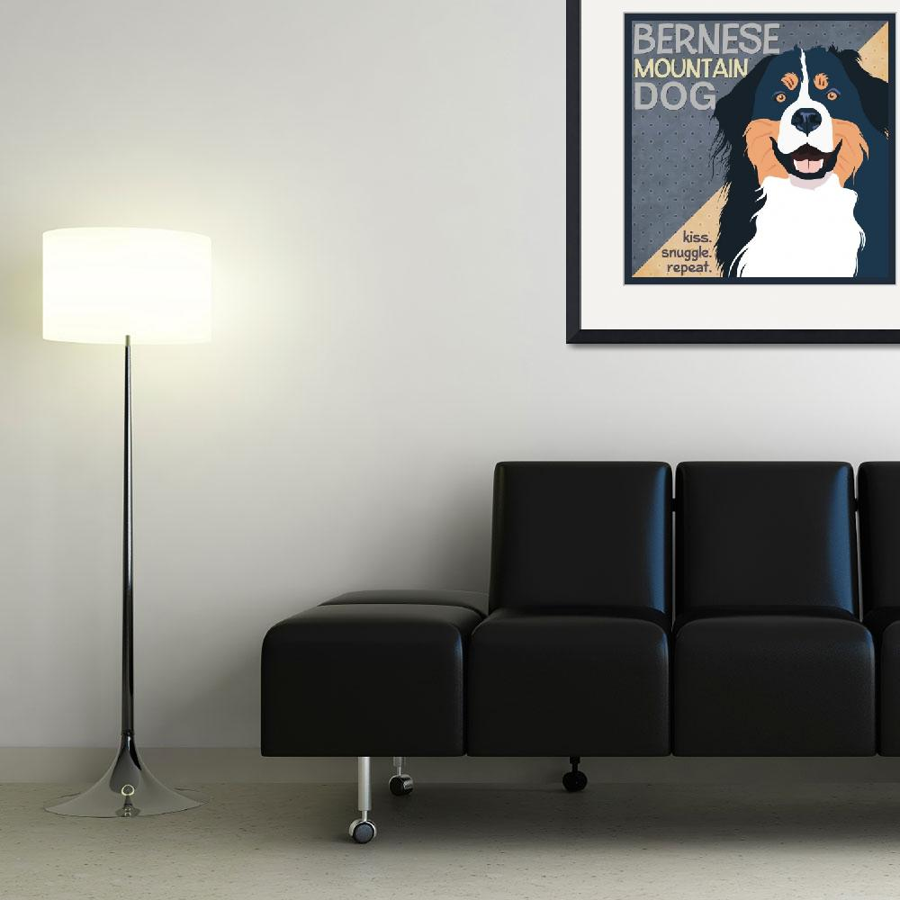 """""""Bernese Mountain Dog&quot  (2012) by DaecuGifts"""