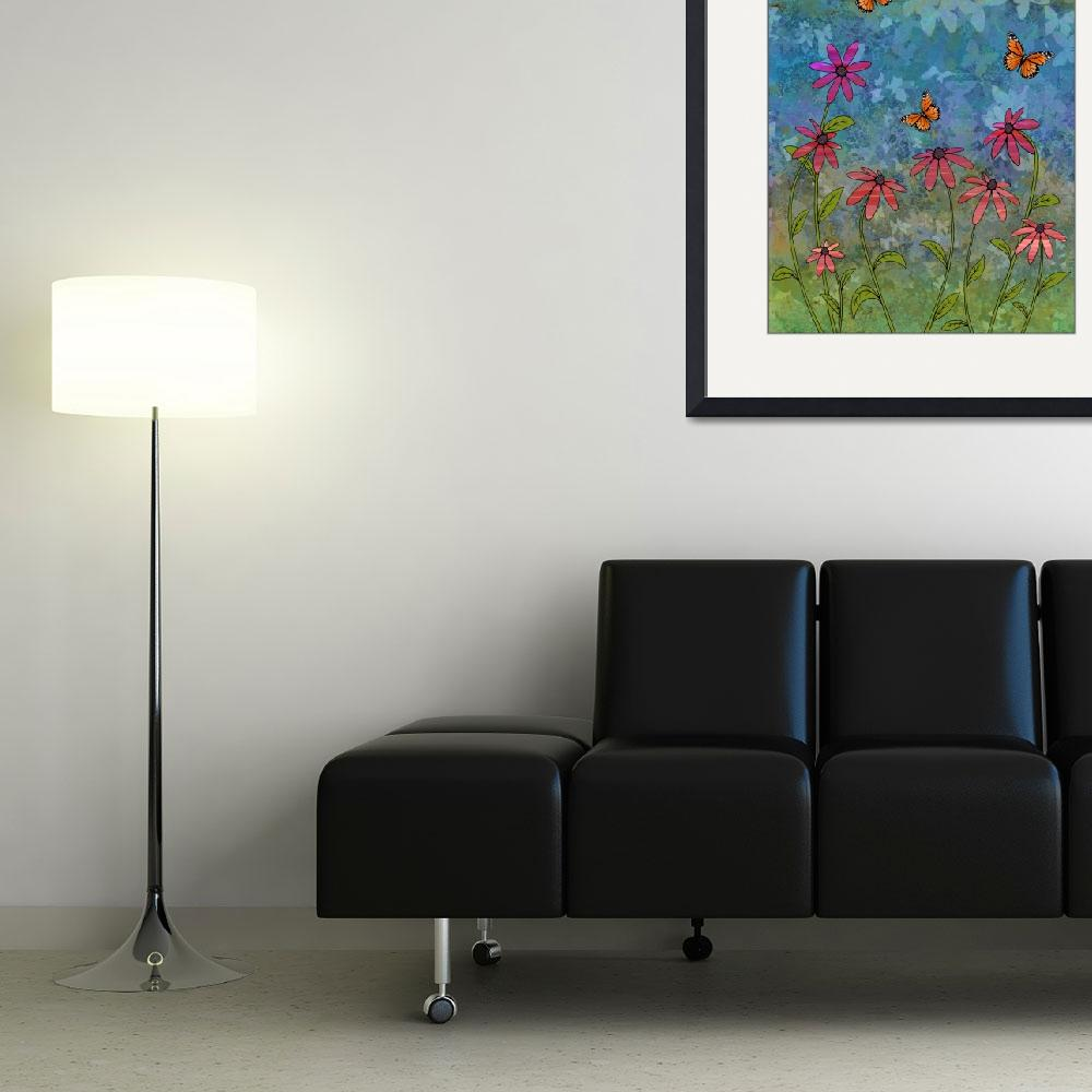 """""""butterfly garden&quot  (2007) by sarahkdesigns"""