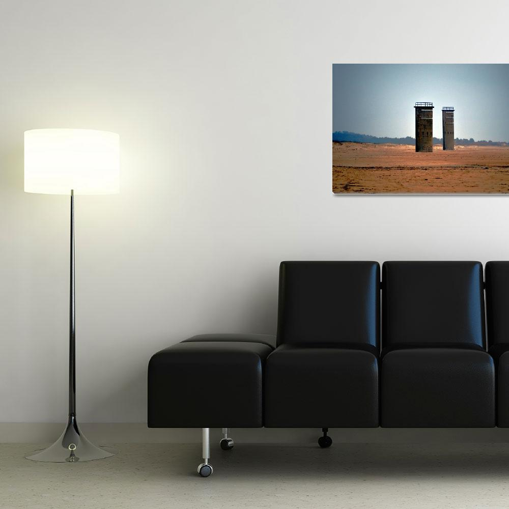 """""""Fire Control Towers 5 and 6 at Gordons Pond Beach""""  (2014) by travel"""