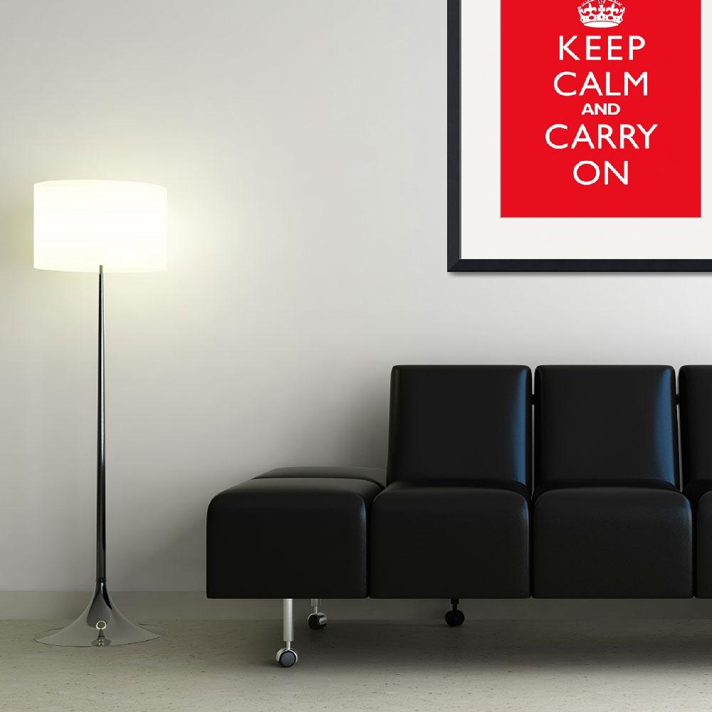"""Keep Calm and Carry On CHERRY""  by cjprints"