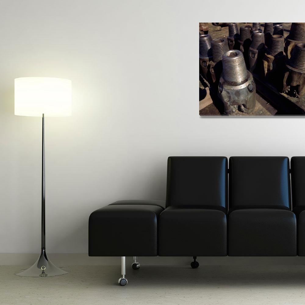 """""""Oil Well Drill Bits-Industry-Urban Industrial Art&quot  (2006) by Tulsa1000"""
