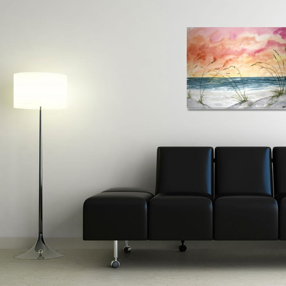 """""""abstract seascape painting""""  (2009) by derekmccrea"""