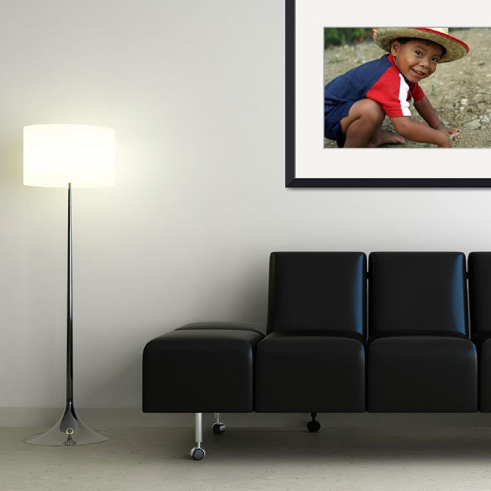 """""""Hispanic toddler playing in the dirt&quot  (2010) by BehindTheLens"""