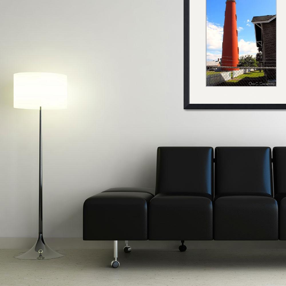 """""""Ponce Inlet Lighthouse in the Afternoon&quot  (2009) by ChrisCrowley"""