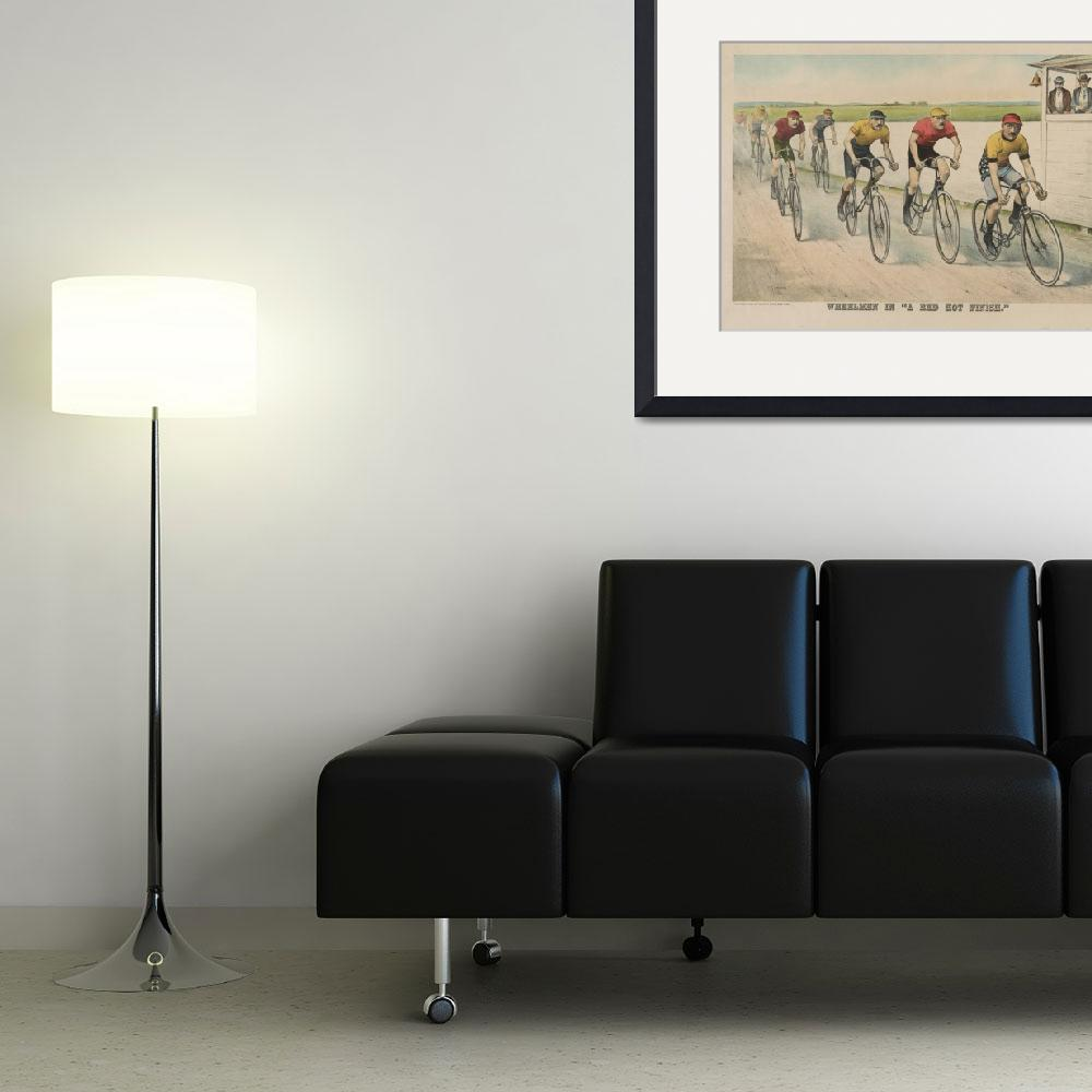"""""""Vintage Cycling Race Illustration (1894)&quot  by Alleycatshirts"""