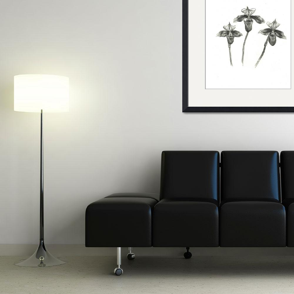 """""""Trio of Slipper Orchids&quot  (2014) by TRELDesign"""