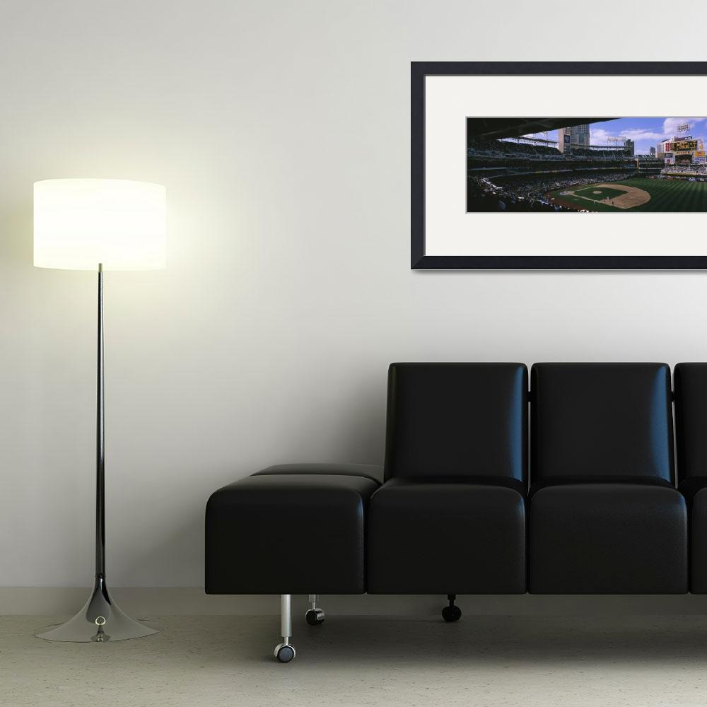 """""""Spectators watching baseball game in a baseball s&quot  by Panoramic_Images"""